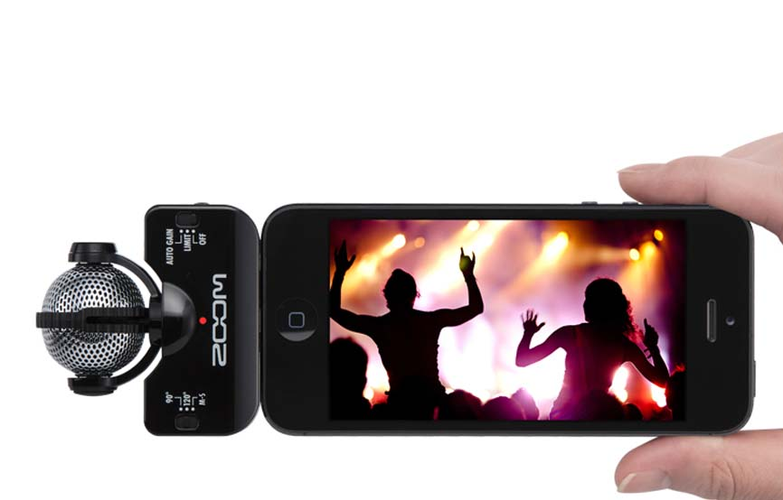 Zoom IQ5 black микрофон для iPhone, iPad, iPod Touch